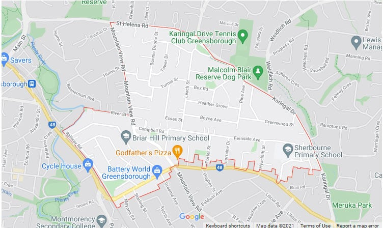 Briar Hill Map Area