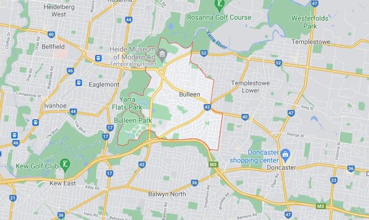 Bulleen Map Area