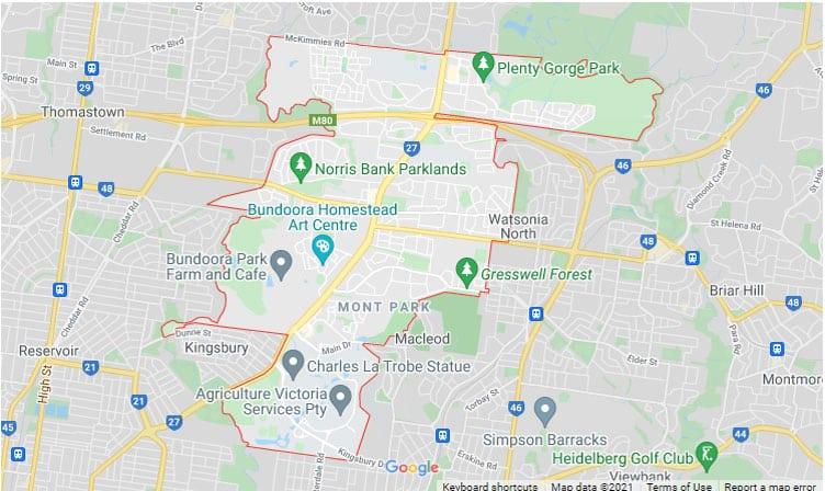 Bundoora Map Area