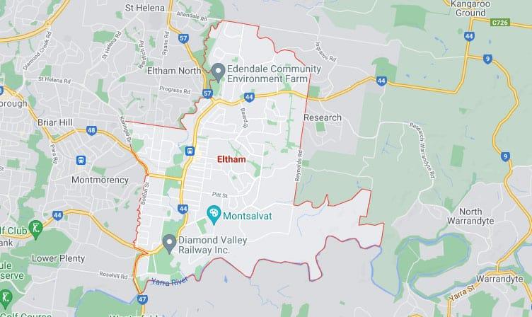 Eltham Map Area