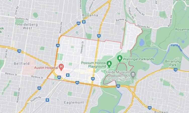 Heidelberg Map Area