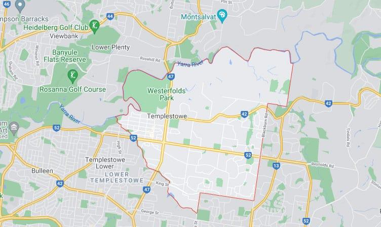 Templestowe Map Area