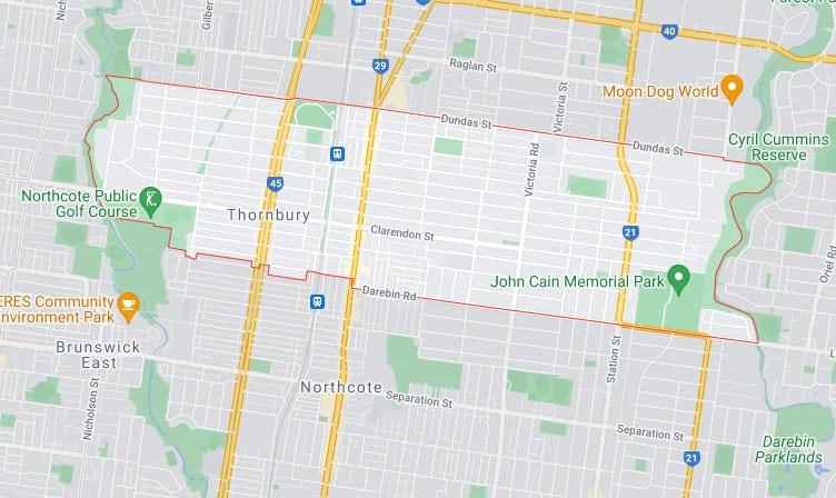 Thornbury Map Area